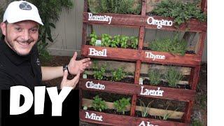 Our Creative Pallet Herb Garden