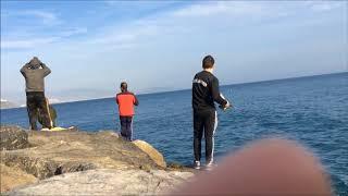 Рыбалка в испании с берега дения