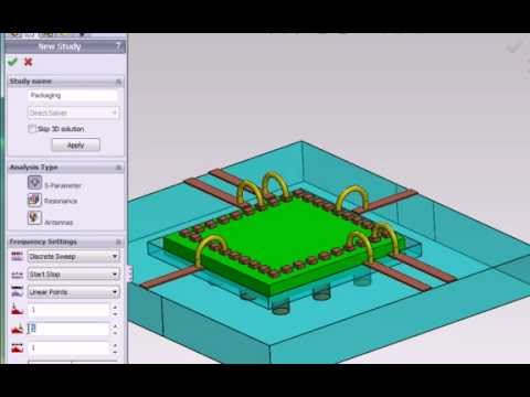 3D EM Field Simulation Software HFWorks: Creating an S-Parameter Study