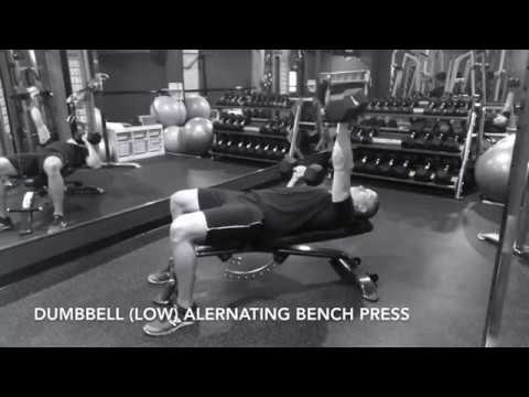 Dumbbell (Low) Alternating Bench Press - Upside Strength Exercise Library