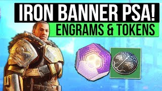 Destiny 2 PSA | Iron Banner 300 Power Rewards Today (For Max Level Characters) & Don't Hoard Tokens!
