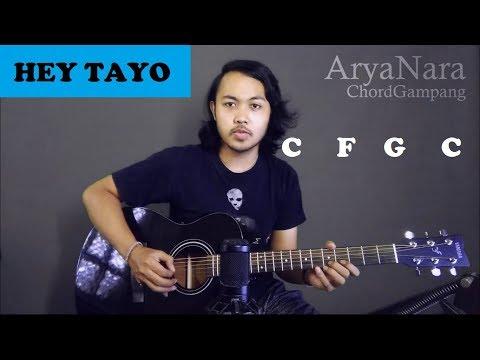 Chord gampang  hey tayo  by arya nara  tutorial gitar  untuk pemula