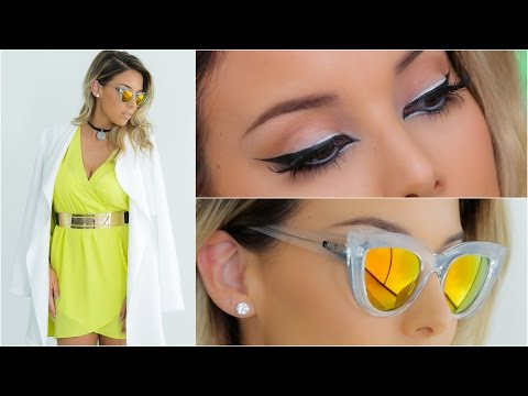 Extreme Cat Eye Makeup + Outfit | Lustrelux