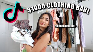Trying VIRAL Tiktok Clothing Stores ($1000 Clothing Haul)