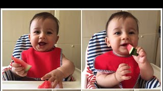 🍉 BABY 7 MONTHS /MELON 🍉 FINGER FOOD🍽/ LED WEANING 🍉/ FIRST TIME/ BABY FIRST SOLID FOODS