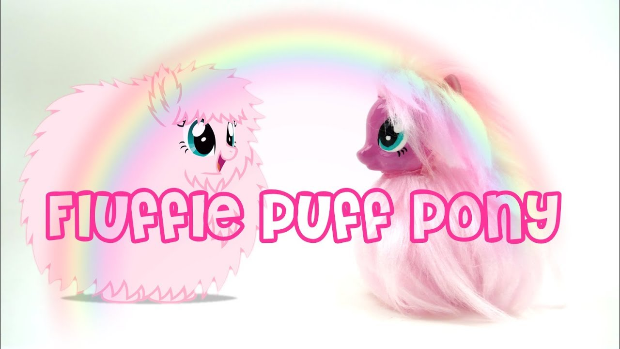Fluffle Puff Pony Custom My Little Pony Tutorial DIY Yarn Weft
