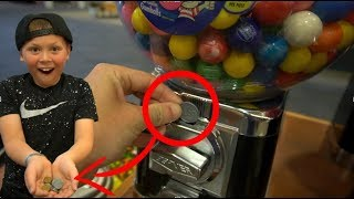 Will FAKE COINS Work In A GUMBALL MACHINE!?!?