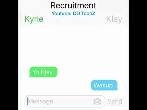 Kyrie Irving Texting Klay Thompson