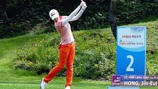 [Slow HD] HONG Jin-Eui 2013 Driver With Practice Golf Swing (1)