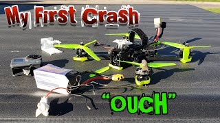 My First REAL Crash (DVR Footage) OUCH!!! GoPro DESTROYED! - iFlight Nazgul5