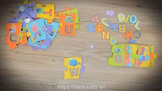 Пазлы напольные английский алфавит длина 2 метра от Mideer как Djeco от компании MiDeer - видео