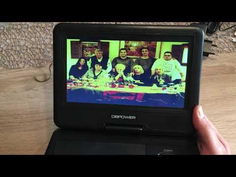 Tragbarer DVD Player mit Akku , 9,5 Zoll mit Spielesammlung  von DBpower