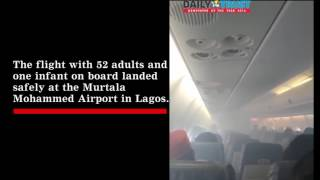 Scared passengers pray in Aero smoked filled plane from PHC to Lagos