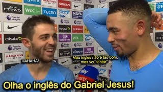 Gabriel Jesus fala em INGLÊS pela PRIMEIRA VEZ em entrevista e arranca risadas de Bernardo