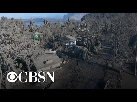 Thousands forced to evacuate after volcano erupts in Philippines