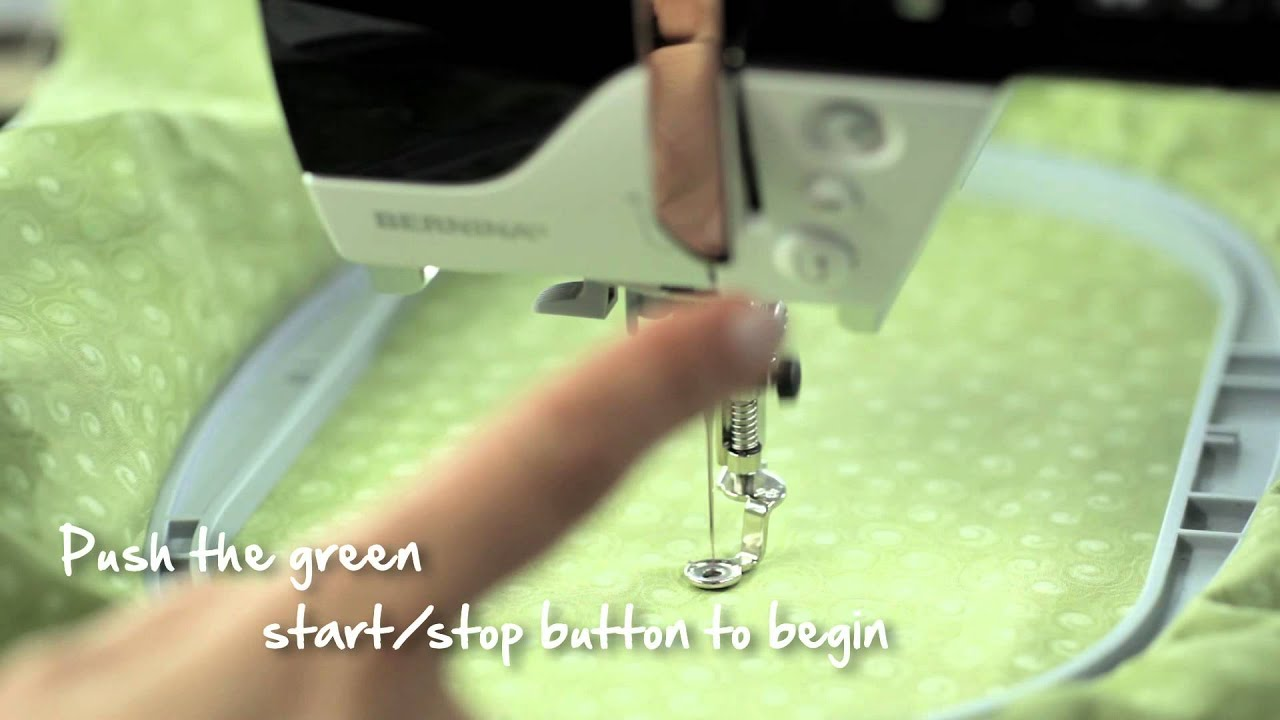 9/10 BERNINA 580/ 570 QE/ 560: how to embroider a single colour design
