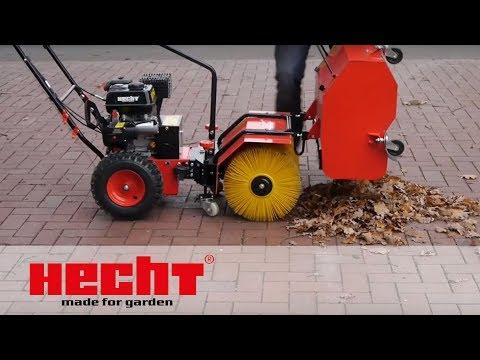 HECHT 8616 Kombi Gerät Kehrmaschine und Schneefräse mit Auffangbehälter
