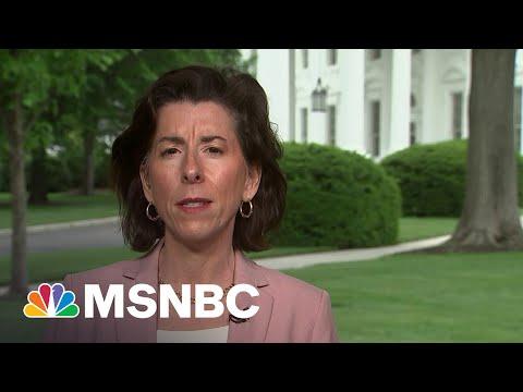 Commerce Sec. Raimondo On Biden's Vow Not To Deficit Spend To Pay For Legislative Priorities | MSNBC