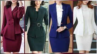 New Elegant Fashion Professional Women Skirts Suits/girls Enterprises Fit Garment Coats Designs