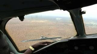 preview picture of video 'African Express DC-9-32 Landing at Wajir, Kenya - Window View'