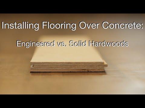 Hardwood Floors over Concrete