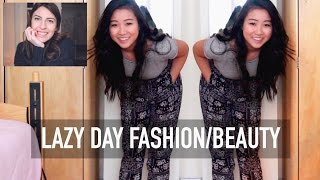 Lazy Day Fashion, Hair, And Makeup | Collab With Smilecuzurhappy