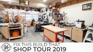 FTBT Woodworking Shop Tour 2019 - 2 Car Garage Workshop