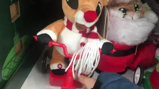 Gemmy 2020 animated Scooter Rudolph