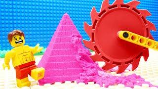 Lego Kinetic Sand Excavator Bulldozer Color Building Fail