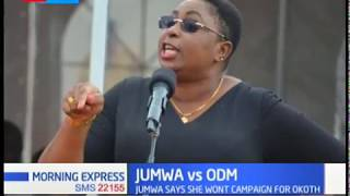 I will not take part in ODM Kibra campaigns - Aisha Jumwa