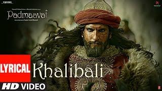 Padmaavat Khalibali Lyrical Mp3 Song Deepika Padukone Shahid Kapoor Ranveer Singh