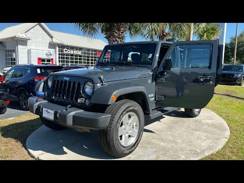 Pre-Owned 2018 Jeep Wrangler Unlimited JK Sport S 4x4