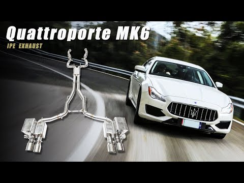 The iPE Exhaust for Maserati Quattroporte MK6