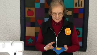 Tips & Techniques 242 - How To Machine Applique Felted Wool