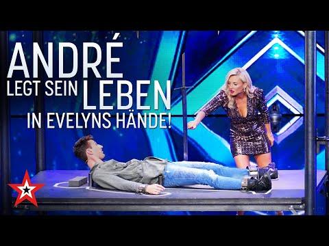 Mutig! André legt sein Leben in die Hände von Evelyn | Das Supertalent vom 17.10.2020