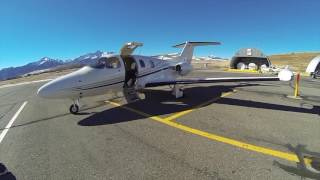 Eclipse Jet Flies to Telluride, CO