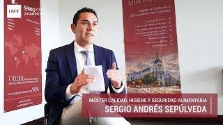 Opinión Alumno Master en Calidad Alimentaria: Sergio Sepúlveda