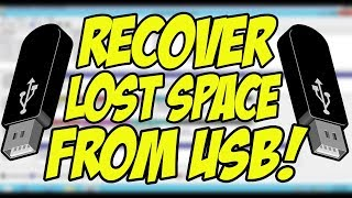 USB Showing Less Space? | Recover Lost Space on PenDrive! (No Software Required!) [Hindi/Urdu]