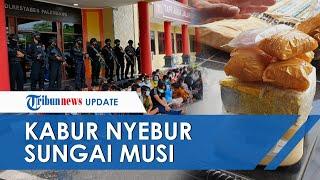 Kampung Narkoba di Palembang Digerebek Ratusan Polisi, Ada yang Nyebur ke Sungai dan Ditunggu Aparat