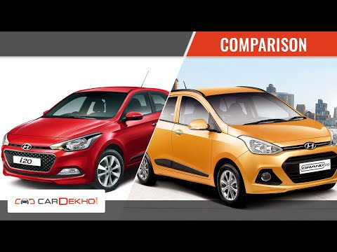 Hyundai Grand i10 vs Hyundai Elite i20 | Video Comparison | CarDekho.com