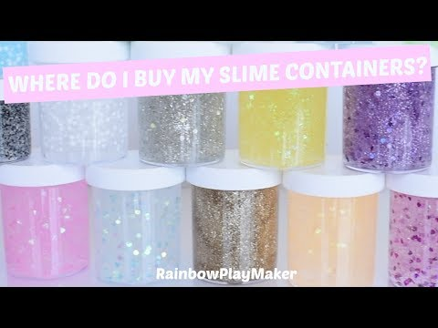 WHERE I BUY MY SLIME CONTAINERS JARS!!! + SLIME & GLITTER GLUE GIVEAWAY CLOSED!