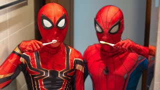 DOUBLE SPIDER-MAN in real life   Welcome New Superhero For Fighting Bad Guys   Hai Người Nhện