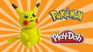 play doh pokemon pikachu - how to make with playdoh