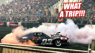 TOAST'S Last BURNOUT in Australia! Letting the Bald Eagles Fly Under HEAVY Smoke!