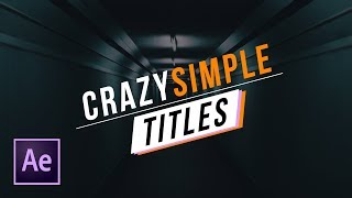 Quickly Create 3 Simple Titles For Your Video   After Effects Tutorial