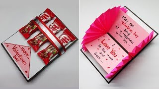 How to Make Valentine Cards | Valentine Cards Handmade Easy | Valentine Day Card Making Ideas | #187