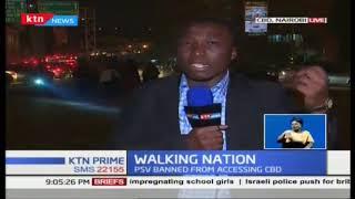 Traffic menace continues despite matatu ban from CBD being enforced