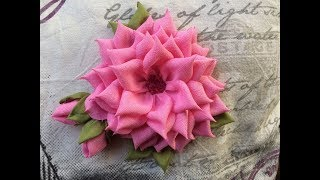 DIY How To Make A Beautiful Fabric Flower...