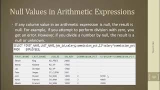 Null values in SQL / DBMS in Hindi / Urdu   Oracle Database Null values in Query 10g and theory