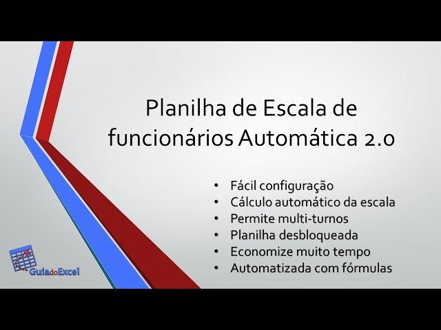 Planilha De Escala De Trabalho Automática Excel